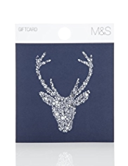 Stag Head Christmas Gift Card