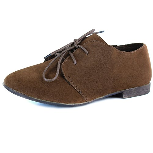 Women's Classic Lace Up Flat Oxford Sneaker Desert Ankle Tan Shoes, 7.5,7.5 B(M) US