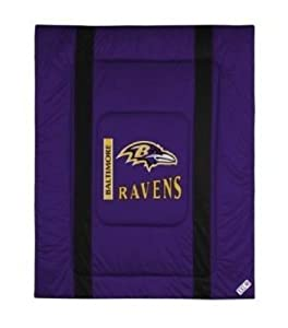 NFL Baltimore Ravens Sideline Bed Comforter by Sports Coverage