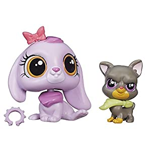 Littlest Pet Shop Pet Pawsabilities Lilac Bennett and Bowzer Newton Doll