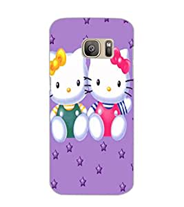 SAMSUNG GALAXY S7 EDGE KITTYS Back Cover by PRINTSWAG