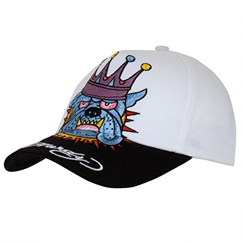 Ed Hardy - Crowned Bulldog Youth Adjustable Baseball Cap