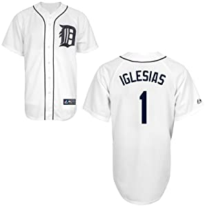 Jose Iglesias Detroit Tigers Home Replica Jersey by Majestic Select Size: Medium by Majestic