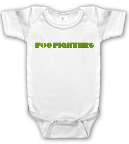 Foo Fighters One-Piece Baby Shirt/Bodysuit Green Logo (3-6 Months)