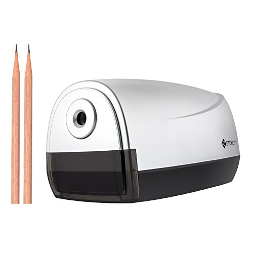 Etekcity Electric Pencil Sharpener, Automatic Feed and Dispense (Silver, 10 pencils included)