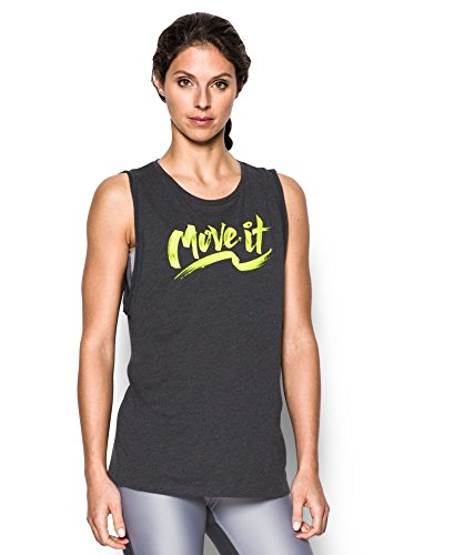 Under Armour Women's Move It Muscle Tank, Carbon Heather (090), X-Large