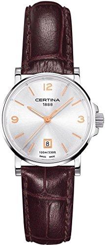 XS Analog Leather Quartz Ladies WristWatch Certina C017 210.16.037.01.