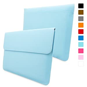 Snugg Macbook Pro 15 Case - Leather Sleeve with Lifetime Guarantee (Baby Blue) for Apple Macbook Pro 15