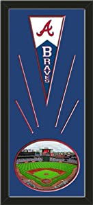 Atlanta Braves Wool Felt Mini Pennant & Turner Field 2012 Photo - Framed With... by Art and More, Davenport, IA