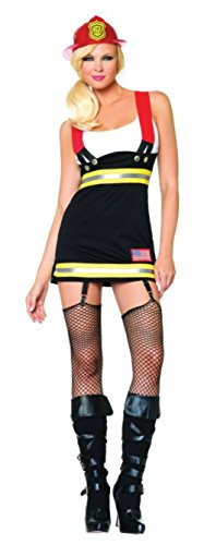 Leg Avenue Womens Backdraft Babe Firefighter Outfit Fancy Dress Sexy Costume