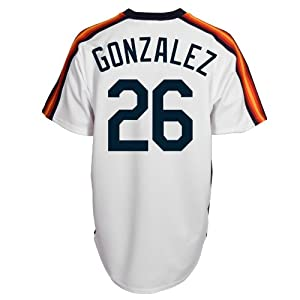 Luis Gonzalez Houston Astros Replica Cooperstown Jersey by Majestic by Majestic