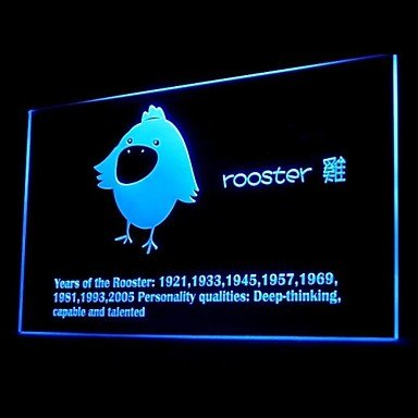 Chinese Zodiac Rooster Advertising Led Light Sign