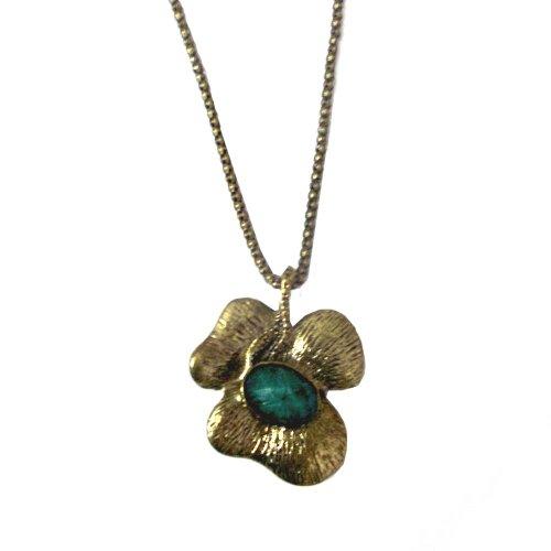 Styonal Styonal Chunky-Funky Bronze Green Flower Fashion Pendant For Women (Multicolor)