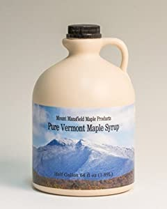 Mansfield Maple- Half Gallon (64oz) Pure Vermont Maple Syrup Grade A Golden Delicate (Vermont Grade Fancy)