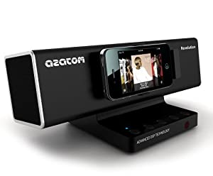 AZATOM® Revolution Docking station: Amazing sound - 40 Watts - latest DSP Technology - Digital Amplifier - Unique Design - Pivot Feature - Full Remote Control - The Revolution is quite simply the Best Sounding Docking Station at anywhere near the price!