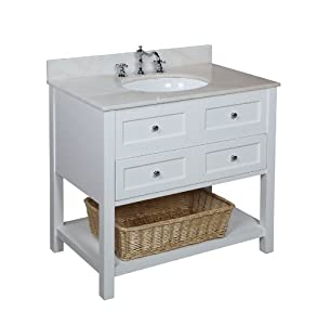 new york 36 inch bathroom vanity white white includes a white