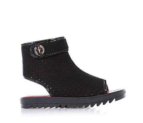 CESARE PACIOTTI - Sandalo nero, traforato in camoscio, riconoscibile dalla ricercatezza dei materiali utilizzati e dal design unico, Donna, ragazza, Bambina-39