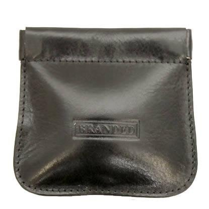 Spring Top Snap Top Mens Coin Purse - Black-Branded by Golunski