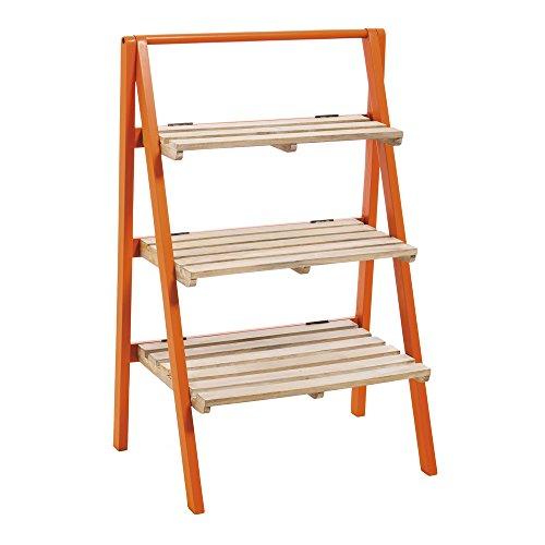 cape-craftsmen-mango-wood-three-tier-orange-accented-folding-shelf