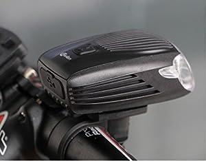 Intelligent Fahrrad-Licht, per USB aufladbares Fahrradfrontlicht, X1, 260 Lumen, Cree LED helles Frontlicht, Blitzlicht, Sicherheitslicht für Fahrräder, Mountainbike, Fahrradfahren. Wasserfest, nach deutscher StVO genehmigtes Licht mit gelben Sicherheit