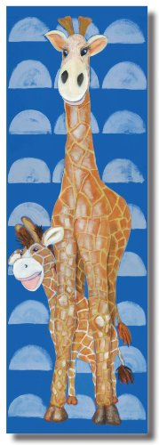 "Gerome the Giraffe - 18"" X 54"" Canvas Wall Art"