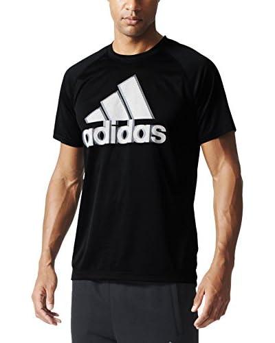 adidas Camiseta Manga Corta Training Base Plain Logo Tee Negro