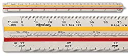 Rotring Triangular Reduction Scales - Surveying T6