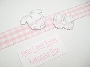 White Cotton Cards New Clothes Baby Girl A5 Keepsake Box