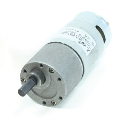 Output 40Rpm Dc24V 6Mm Shaft Speed Reducer Round Dc Gear Motor front-1021285