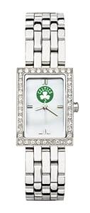 Boston Celtics Ladies Allure Sterling Silver Watch Bracelet by Logo Art