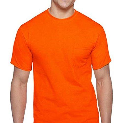 Gildan Men's 2-Pack Workwear High Visibility Crew Pocket T