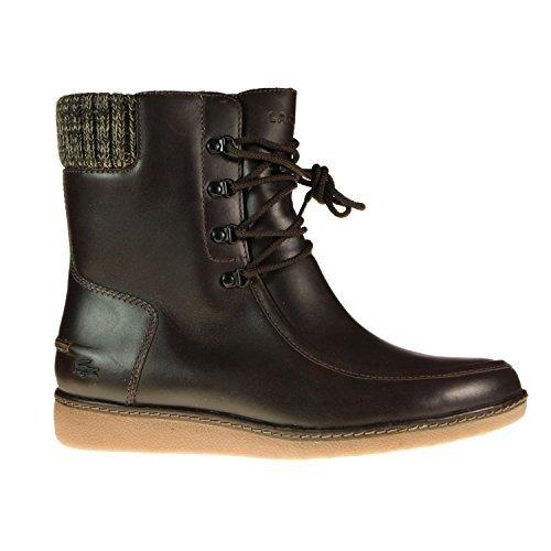 Lacoste Alyson 2 SRW DK scarpe, stivaletti donna in pelle marrone, Marrone (marrone), 38