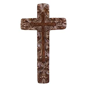 Gifts D Cor Classic Rustic Wall Cross Home Kitchen: home decor wall crosses
