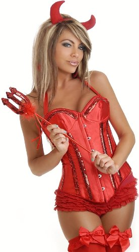 Daisy Corsets 4 PC Glitter Devil Costume