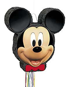 Unique Party Disney Mickey Mouse Shaped Pull String Pinata
