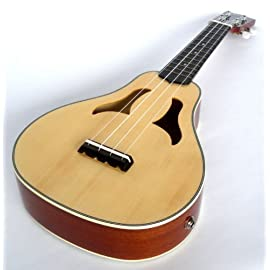 Soprano Ukulele Roy Smeck Vita style solid top electro acoustic by Clearwater