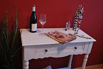 konsole tisch anrichte landhaus antik wei beistelltisch. Black Bedroom Furniture Sets. Home Design Ideas