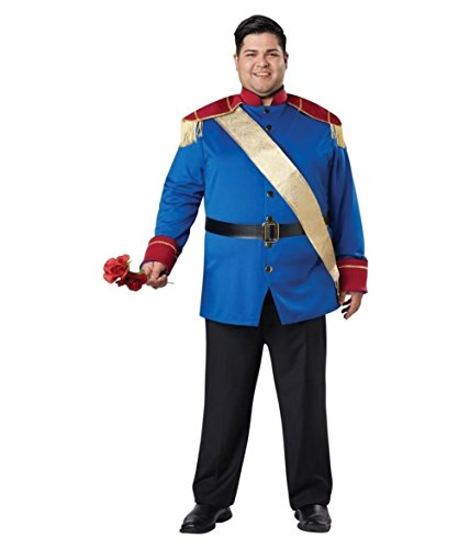 [Storybook Prince Charming Costume Adult Men Medieval Fairy Tale King Halloween] (Storybook Prince Adult Mens Costumes)