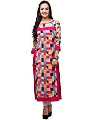 New ArriveDesign Designer Womens Cotton Princess Dress (Western Wear) (FB_950_Free Size_Pink)