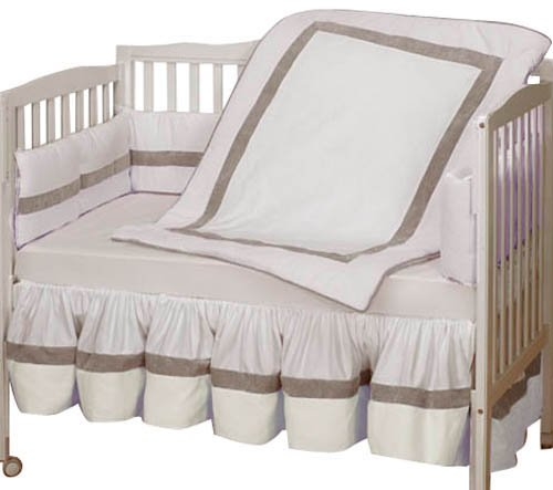 Baby Doll Bedding Classic II Crib Bedding Set, Ecru