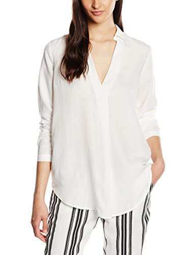 VILA CLOTHES VIFORNIA L/S SHIRT-Camicia Donna, Bianco (Snow White), Small