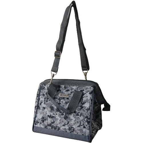 Sachi Black And Gray Camo Insulated Lunch Bag
