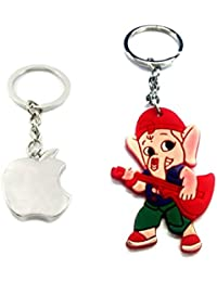 Parrk Apple Silver & Rubber Ganesh Key Chain