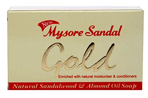 Mysore Sandal Gold Soap, 125 Grams Per Unit (Pack of 4) - Purest Sandalwood Soap - 100% Pure Essential Oils - Grade 1 Soap - TFM 80% - Suitable for ALL Skin Type - Enriched with Natural Moisturizer & Conditioners - Zero Dryness - Natural Sandalwood & Almond Oil Soap  available at amazon for Rs.1807