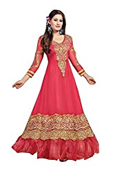 Stutti Fashion Exclusive Pink Color Georgette Anarkali Dress Material