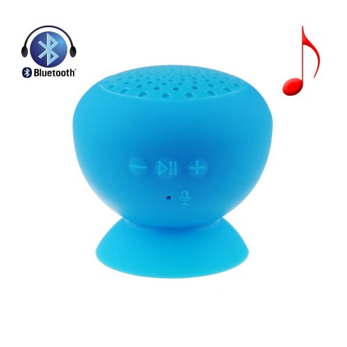 Vipstore® Mini Mushroom Wireless Bluetooth Speaker Waterproof Sucker Handsfree Function Speakers With Built-In Microphone For Laptop Smartphone Tablet As A Tablet Stand (Sky Blue)