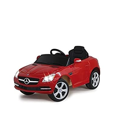 Jamara - 404608 - Maquette - Voiture - Ride On Car - Mercedes Benz Slk Class 2010 - Rouge - 6 Pièces