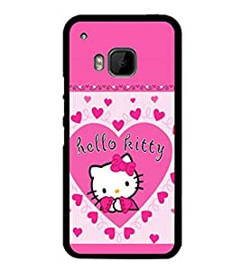 printtech Kitty Cute Back Case Cover for HTC One Hima