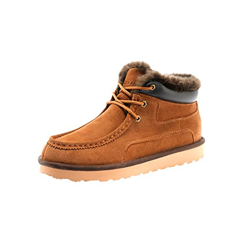 Rock Me Women's Genuine Leather Winter Snow Boot (7.5 B(M) US, chestnut)
