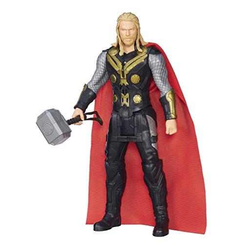 "Hasbro - Marvel Avengers: Age of Ultron Titan Hero Tech Thor 12"" Action Figure - Black/Red B1496"